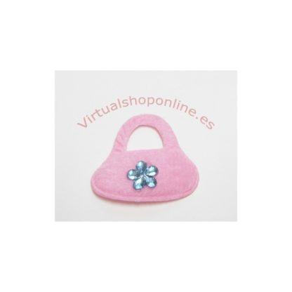 bolso fieltro rosa claro