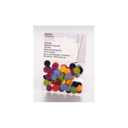 Lunares de fieltro de varios colores