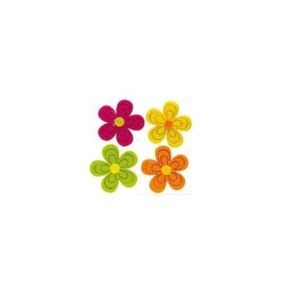 Surtido flores de fieltro 12/u