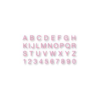 Alfabeto y números de goma EVA rosa