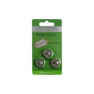 Set 3 adaptadores de 3.5, 4 y 4.5 mm. para extrusora profesional