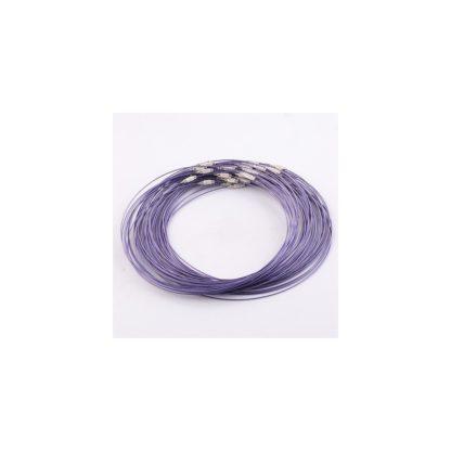 hilo de acero de memoria lila brazalete