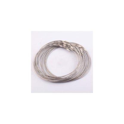 hilo de acero de memoria plata brazalete