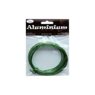 Hilo de aluminio color Verde
