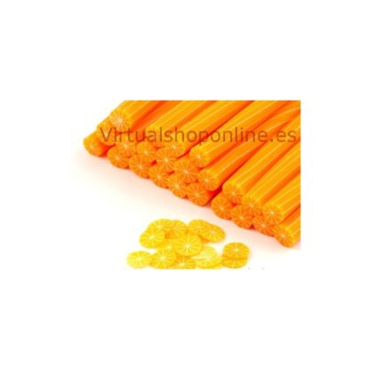 1 murrinas naranja arcilla polimérica