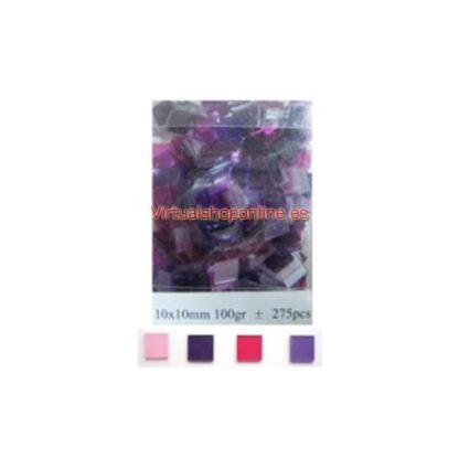 Mosaicos cristal, Violetas y Rosas.