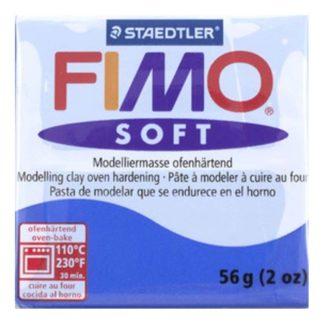 Pastilla FIMO SOFT color Azul brillante, 56gr.