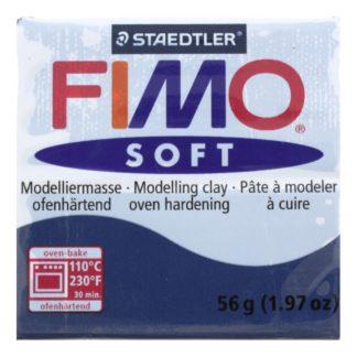 Pastilla FIMO SOFT color Azul oscuro, 56gr.
