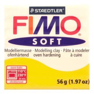 Pastilla FIMO SOFT color Amarillo, 56gr.