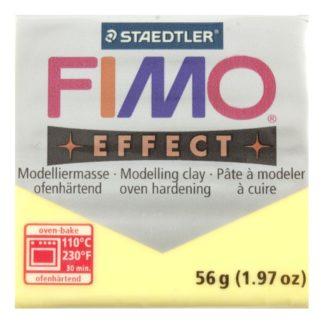 Pastilla FIMO EFFECT color Amarillo translúcido, 56gr.