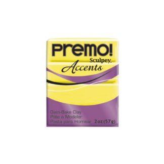 Pastilla Premo! Sculpey Accents color Amarillo translúcido, 56gr