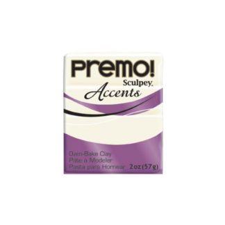 Pastilla Premo! Sculpey Accents color blanco translúcido, 56gr