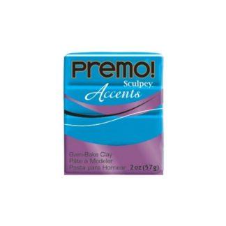 Pastilla Premo! Sculpey Accents color azul translúcido, 56gr