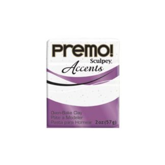 Pastilla Premo! Sculpey Accents color blanco granito, 56gr