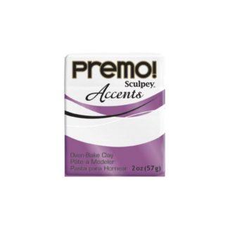 Pastilla Premo! Sculpey Accents color brillante blanco granito, 56gr