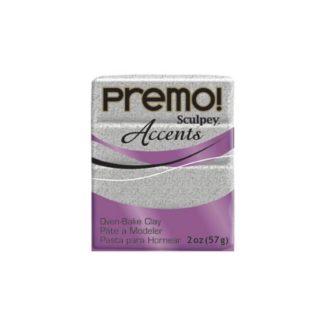 Pastilla Premo! Sculpey Accents color gris granito, 56gr