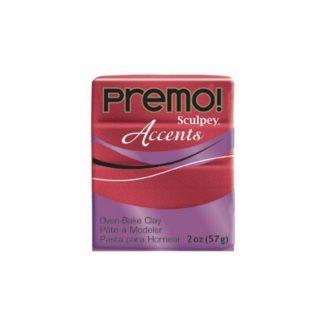 Pastilla Premo! Sculpey Accents color rojo brillante, 56gr