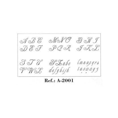 Stencil 21 x 29,7 cm.