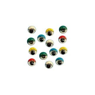 Ojos móviles con pestaña 12mm