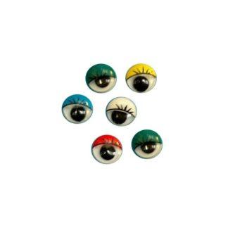 Ojos móviles con pestaña 15mm