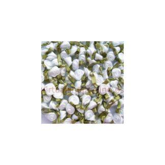 Rosas de satén, blancas
