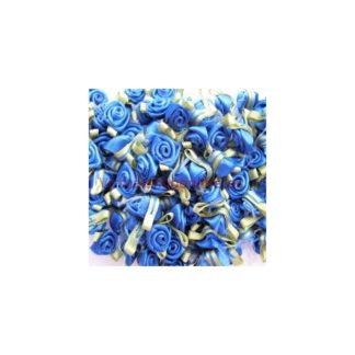 Rosas de satén, azul