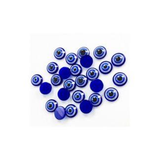 Pack 10 unidades, ojos móviles azul 8mm