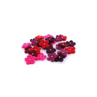 Surtido flores de fieltro con perla