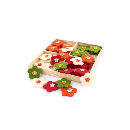 fieltro surtido 48 flores de colores