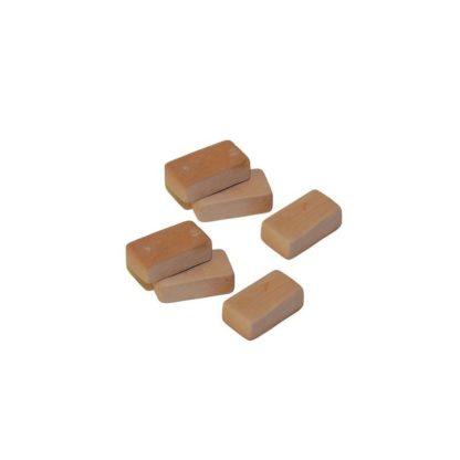 Ladrillos 1,3x0,7x0,5 cm.