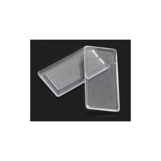 Cabuchon cristal rectangulo 4.8x 2.4cm