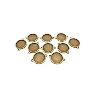 Base camafeo conector bronce 18mm