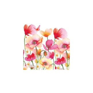 Servilleta Aquarell Poppies & Daisies