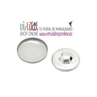 Boton aluminio para forrar 1,2 cm
