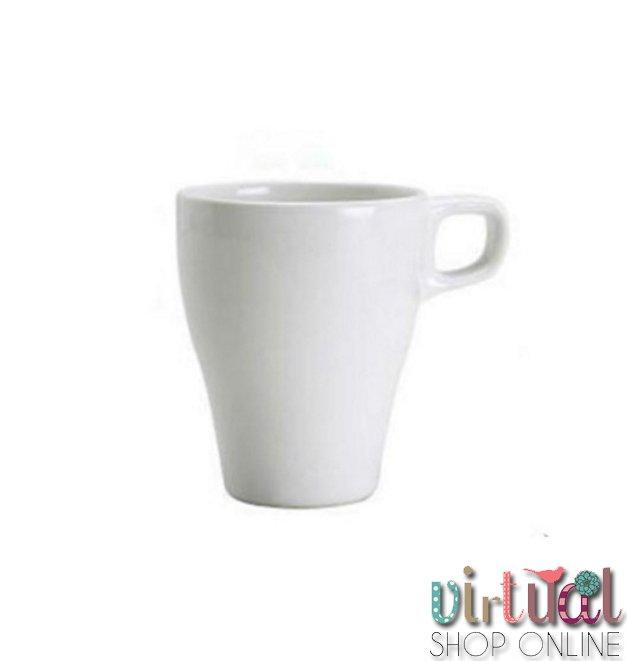 Blog - taza de porcelana blanca